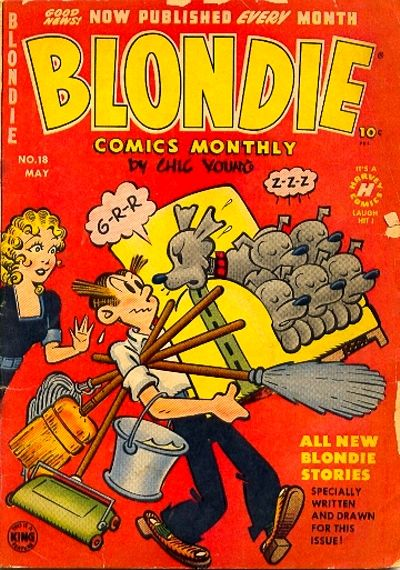 Cover for Blondie Comics Monthly (Harvey, 1950 series) #18