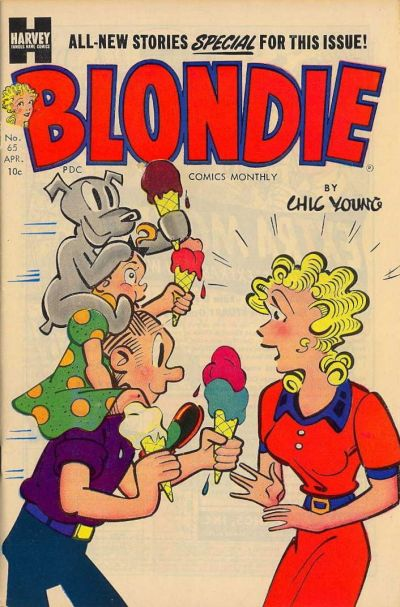 Cover for Blondie Comics Monthly (Harvey, 1950 series) #65