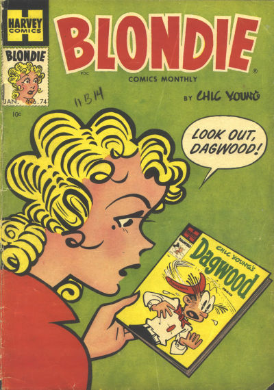 Cover for Blondie Comics Monthly (1950 series) #74