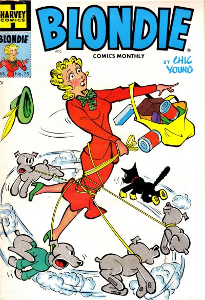 Cover for Blondie Comics Monthly (Harvey, 1950 series) #75