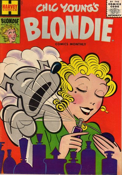 Cover for Blondie Comics Monthly (Harvey, 1950 series) #90
