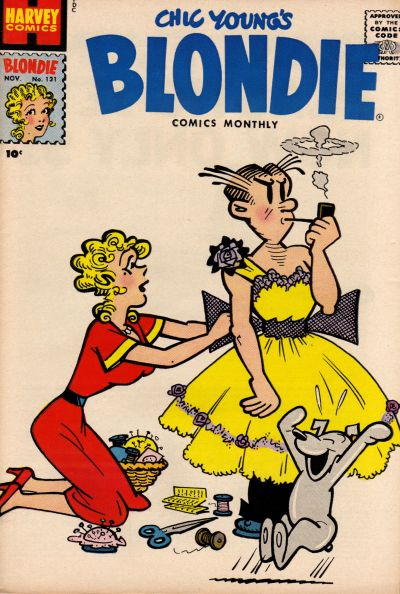 Cover for Blondie Comics Monthly (Harvey, 1950 series) #131