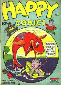 Cover Thumbnail for Happy Comics (Pines, 1943 series) #3