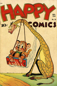 Cover Thumbnail for Happy Comics (Pines, 1943 series) #28