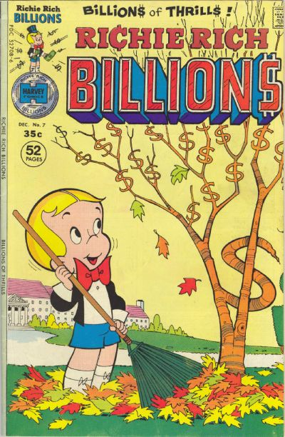 Cover for Richie Rich Billions (Harvey, 1974 series) #7