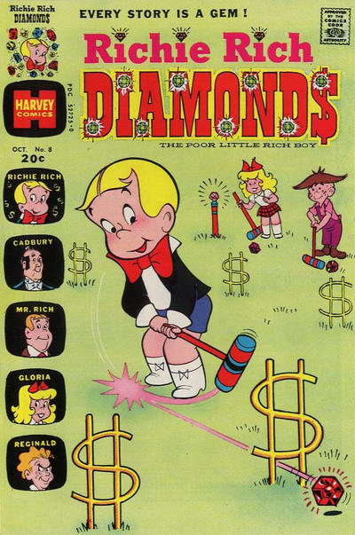 Cover for Richie Rich Diamonds (Harvey, 1972 series) #8