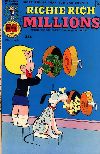 Cover for Richie Rich Millions (Harvey, 1961 series) #74