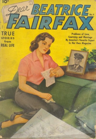 Cover for Dear Beatrice Fairfax (Pines, 1950 series) #9