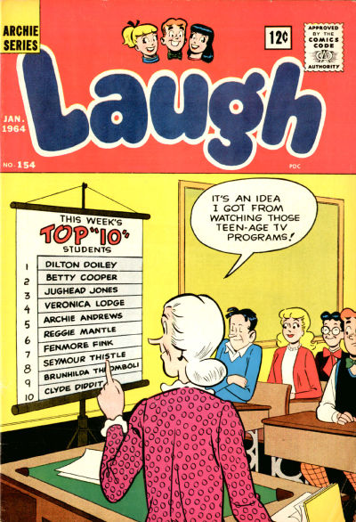 Cover for Laugh Comics (1946 series) #154