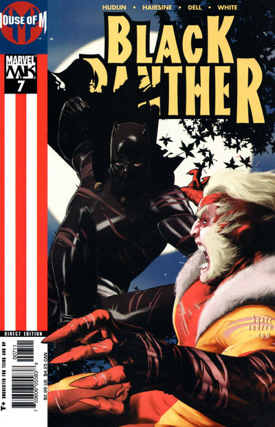 Cover for Black Panther (Marvel, 2005 series) #7 [Direct Edition]
