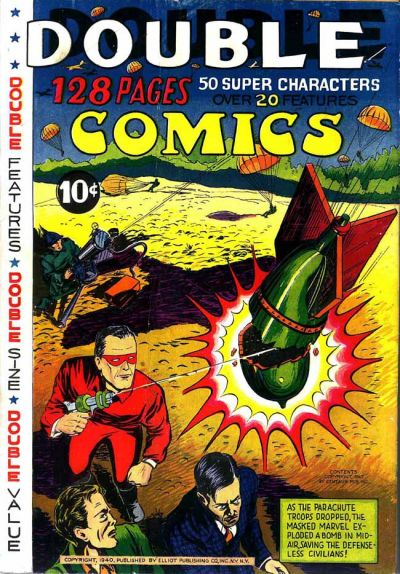 Cover for Double Comics (Gilberton, 1940 series) #1940 [Masked Marvel]