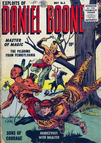 Cover for Exploits of Daniel Boone (1955 series) #4