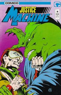 Cover Thumbnail for Justice Machine (Comico, 1987 series) #10