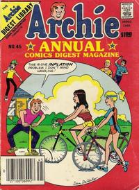 Cover Thumbnail for Archie Annual Digest (Archie, 1975 series) #45 [US Newsstand]