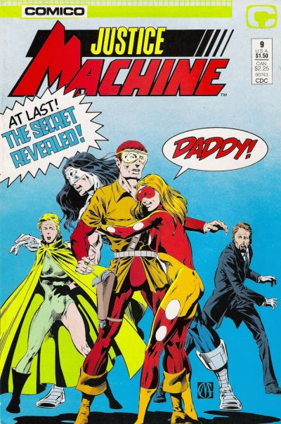 Cover for Justice Machine (1987 series) #9