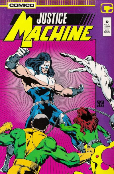 Cover for Justice Machine (1987 series) #12
