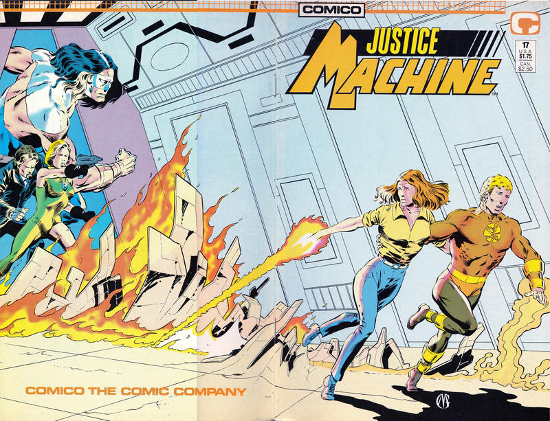Cover for Justice Machine (1987 series) #17