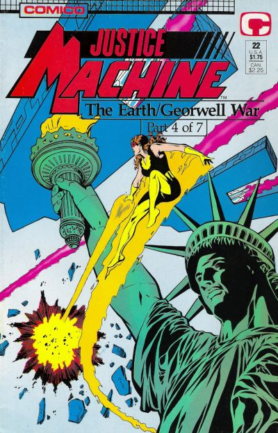 Cover for Justice Machine (1987 series) #22