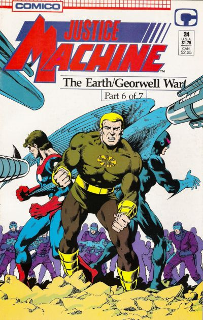 Cover for Justice Machine (Comico, 1987 series) #24