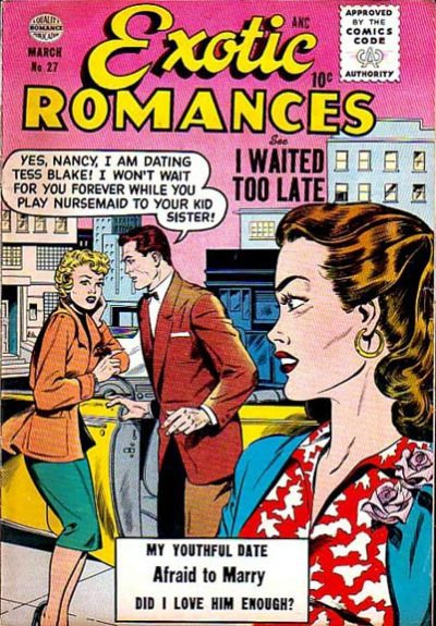 Cover for Exotic Romances (Quality Comics, 1955 series) #27