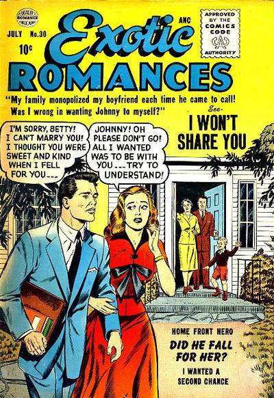 Cover for Exotic Romances (Quality Comics, 1955 series) #30