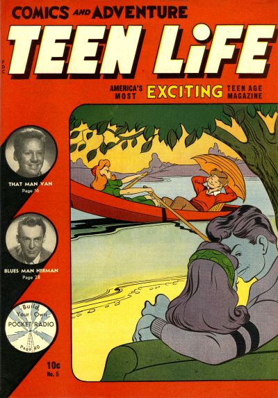 Cover for Teen Life Comics and Adventure (New Age Publishers, Inc., 1945 series) #5