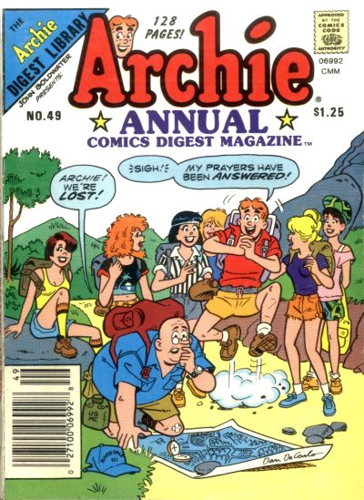 Cover for Archie Annual Digest (Archie, 1975 series) #49 [Canadian Newsstand]