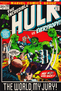 Cover Thumbnail for The Incredible Hulk (Marvel, 1968 series) #153