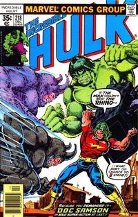 Cover Thumbnail for The Incredible Hulk (Marvel, 1968 series) #218