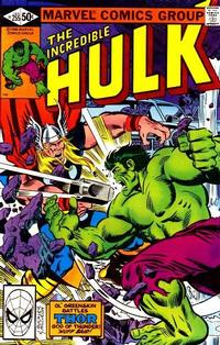 Cover for The Incredible Hulk (1968 series) #255