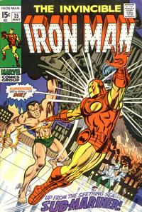 Cover for Iron Man (Marvel, 1968 series) #25