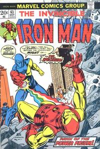 Cover Thumbnail for Iron Man (Marvel, 1968 series) #63