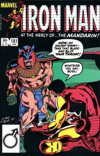 Cover for Iron Man (Marvel, 1968 series) #181 [Direct]