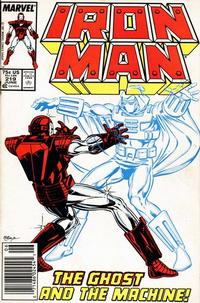 Cover for Iron Man (Marvel, 1968 series) #219 [Newsstand Edition]