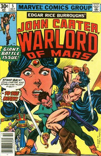 Cover Thumbnail for John Carter Warlord of Mars (Marvel, 1977 series) #5 [30 cent cover price]