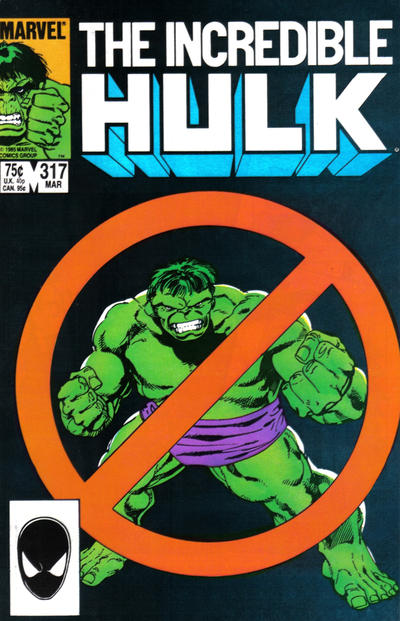 Cover for The Incredible Hulk (1968 series) #317 [Direct Edition]