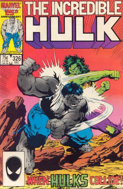Cover for The Incredible Hulk (1968 series) #326 [Newsstand]