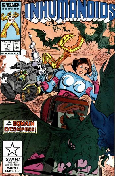 Cover for The Inhumanoids (Marvel, 1987 series) #3