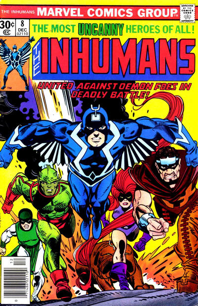 Cover for The Inhumans (Marvel, 1975 series) #8