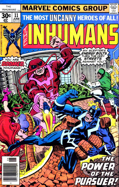 Cover for The Inhumans (Marvel, 1975 series) #11 [30 cent cover price]