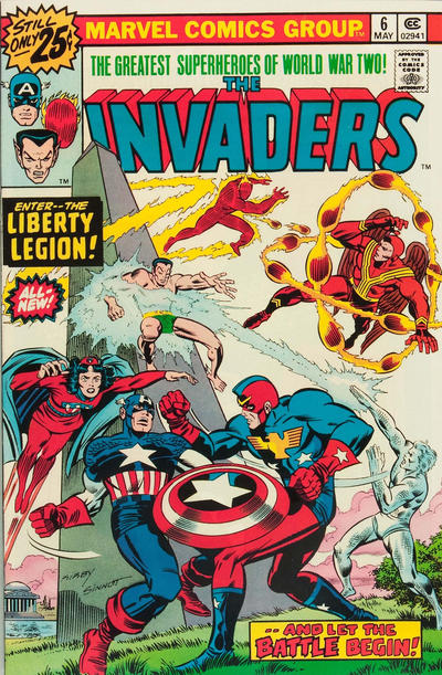 Cover for The Invaders (Marvel, 1975 series) #6 [25¢ Cover Price]