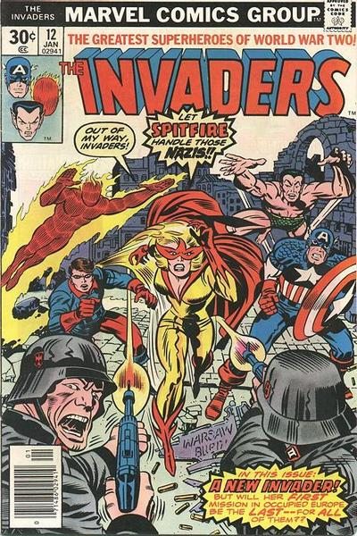 Cover for The Invaders (Marvel, 1975 series) #12