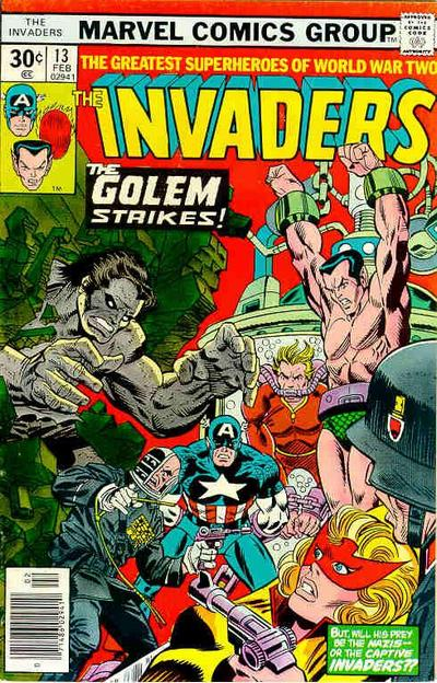 Cover for The Invaders (Marvel, 1975 series) #13
