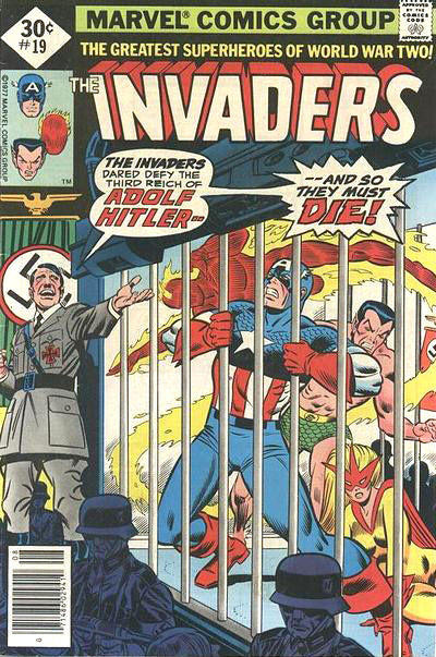 Cover for The Invaders (Marvel, 1975 series) #19 [Diamond price box]