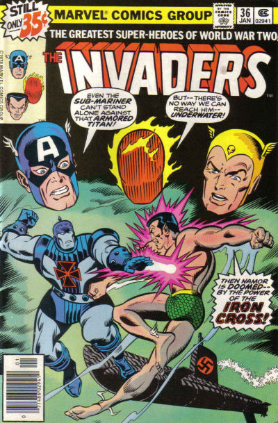 Cover for The Invaders (Marvel, 1975 series) #36