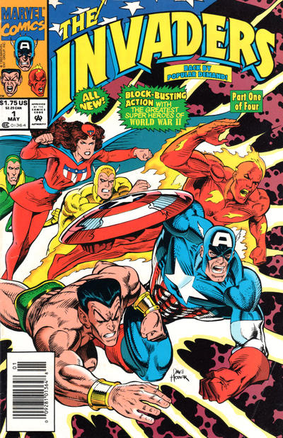 Cover for The Invaders (Marvel, 1993 series) #1 [Direct Edition]