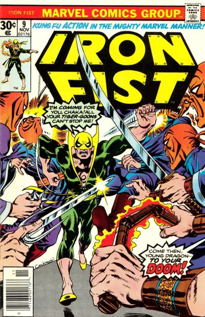 Cover for Iron Fist (Marvel, 1975 series) #9