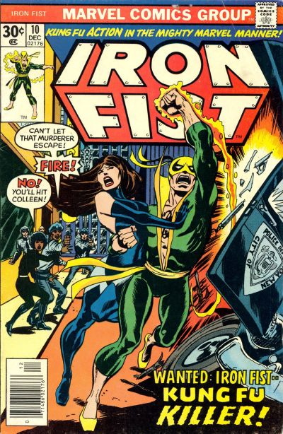 Cover for Iron Fist (1975 series) #10