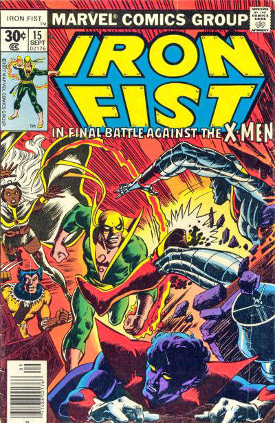 Cover for Iron Fist (1975 series) #15 [35 cent cover price variant]