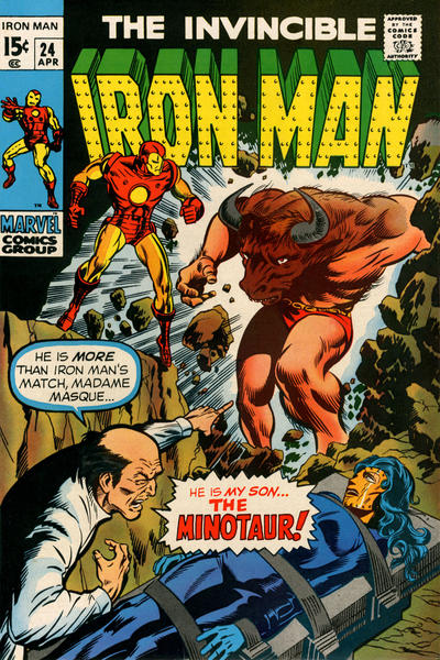 Cover for Iron Man (Marvel, 1968 series) #24